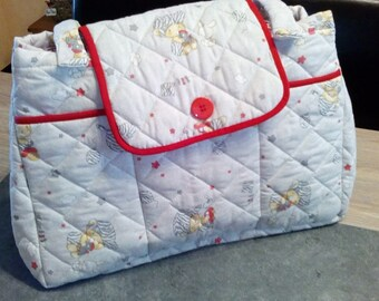 Large quilted baby bag