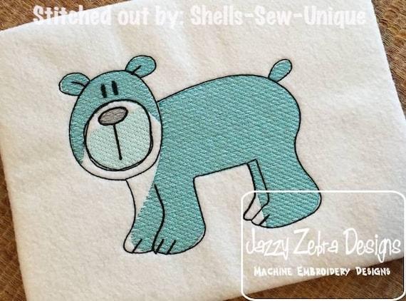 Bear Sketch Embroidery Design - mascot Sketch Embroidery Design - zoo Sketch Embroidery Design - bear cub Sketch Embroidery Design - baby