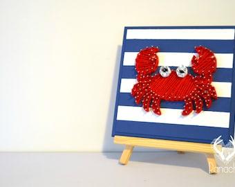Framework,string art,3d wall art, baby shower, Panache, Crab
