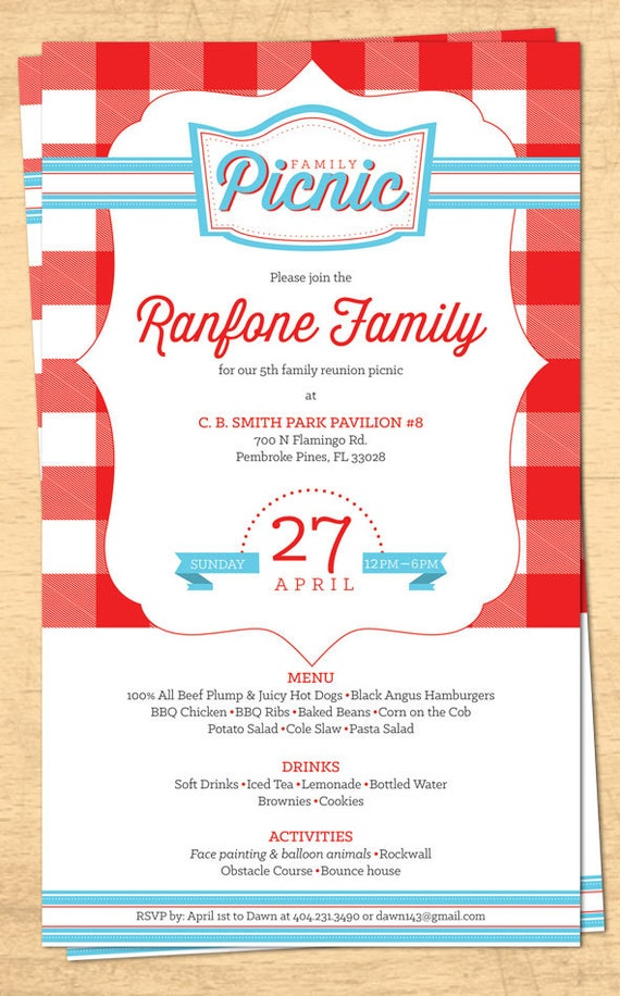 family picnic invitation koni polycode co