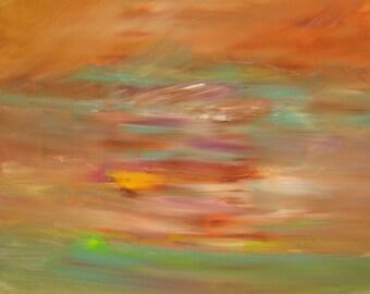 20x20 Original Abstract Canvas Art Abstract Painting Acrylic Paintings Wall Art Abstract 20x20 Abstract Living Room Art Storm Seascape Fall