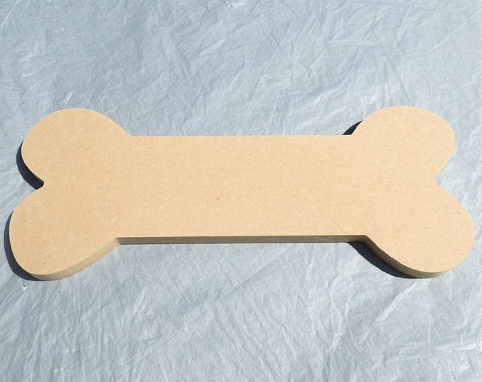 """Dog Bone Plaque - Use as a Base for Mosaics Decoupage or Decorative Painting - Unfinished MDF 12"""" x 5"""" Pet Home Decor"""