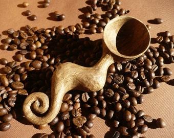 Special Coffee scoop, walnut coffee spoon, hand carved coffee scoop, wooden coffee scoop
