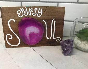 Gypsy soul wood and crystal art