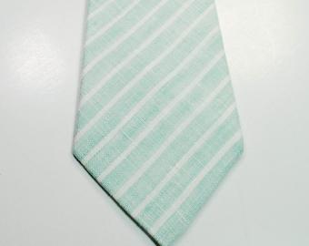 Mint Neckties Mint Ties Custom Ties Skinny Mint Neckties Wedding Neckties Mint Linen Necktie Mens Neckties Custom Neckties Mens Neckties
