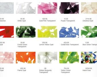 Uroboros Glass Confetti & Minis Shards System 96 COE Full Jar 4-7 oz RARE Fusing