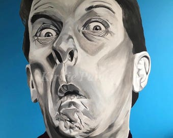 Kenneth Williams Pop Art print, British comedy, carry on films
