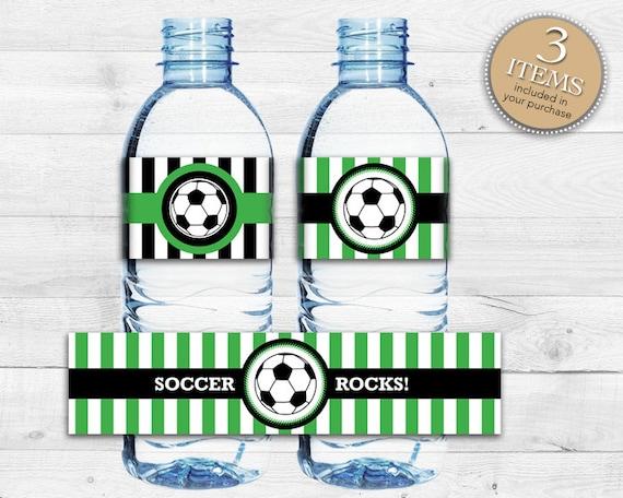 Instant Download Soccer Bottle Labels Printable Soccer Water