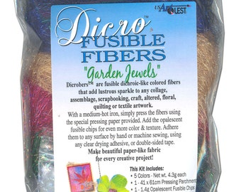 Dicro Fusible Fibers Dicrofibers 5 Pack GARDEN JEWELS by USArtQuest