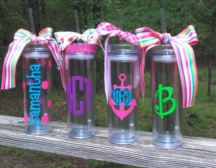 Personalized tumbler cups with straws diy archivosweb com
