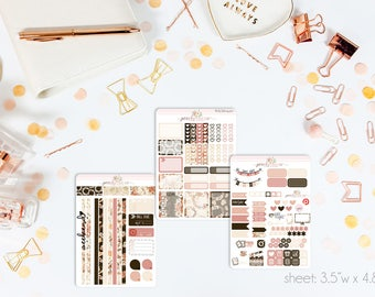 Rosewood MINI Weekly Kit // 130+ Matte Planner Stickers // Perfect for your Personal Planner // WKM0420