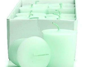 15 Hour Pastel Green Unscented Soy Votive Candles Pick A Pack