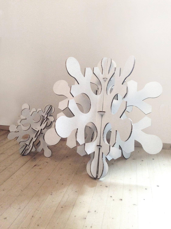 White cardboard snowflake, Medium size christmas party decoration ...