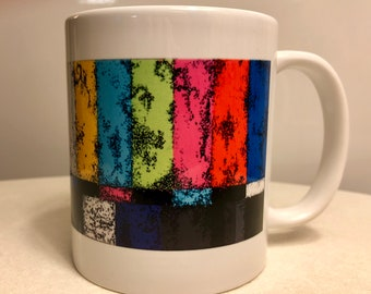 "Coffee Mug print of ""Video Disruption #2"""