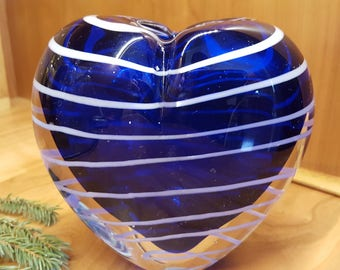 Cobalt Blue Solid Glass bud vase or candle holder