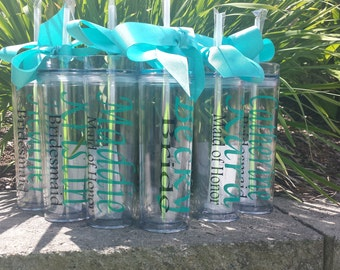 Personalized Tumbler, Bridal party gifts, bridal party cups, Personalized Gift, Bridesmaid Gift,  Personalized Tumbler,  Birthday Gift,