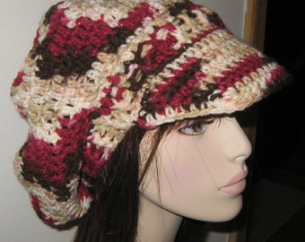 Cherry Chip Billed Dread Tam Hat