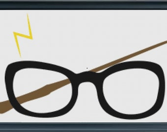 Harry Potter's Glasses & Wand