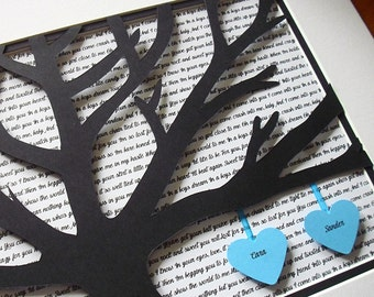 Personalized song lyric art unframed d paper tree