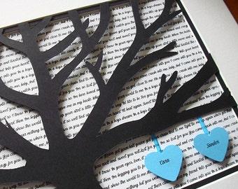 Paper Anniversary Gifts, 11X14 Unframed 3D, Wedding Vow Art, Anniversary Gift For Him, Wedding Song Lyrics
