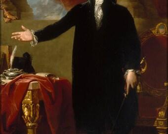 Poster, Many Sizes Available; President George Washington Gilbert Stuart, 1797