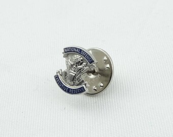 Rare Collectable National Defense Executive Reserve Vintage Sterling Silver Lapel Pin or Tie Tack  #NATIONAL-PN1