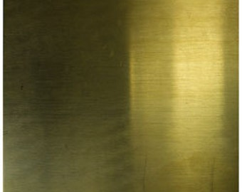 Brass Sheet 26ga 6 in. x 6 in. 0.41mm Thick New Lower Price