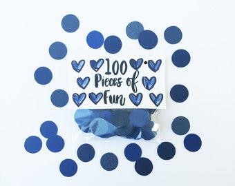 Navy Blue Confetti, navy blue wedding, navy blue party, navy blue birthday, navy blue shower, navy blue party decor, navy table, navy blue