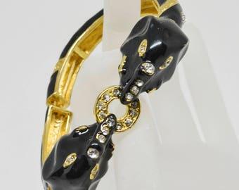 Stunning Elephant Gold tone Stretchable Bracelet
