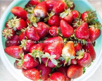 Bowl of Strawberries, Digital Image, DIY Digital Print, Photography