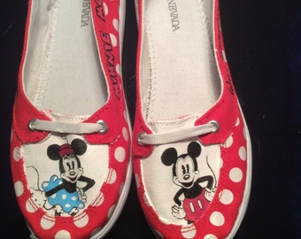 Disneyland Inspired Painted shoes