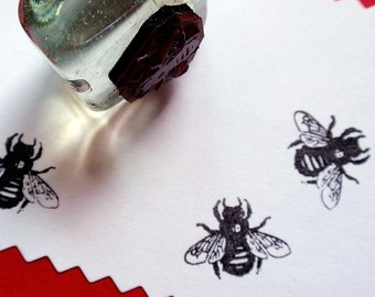 Honey Bee Rubber Stamp -  Handmade Rubber Stamp by BlossomStamps