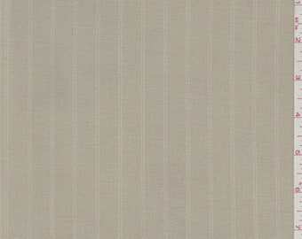 Sandy Tan Stripe Polyester Suiting, Fabric By The Yard