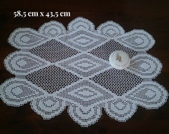 Grandma gift Crochet home decor Crochet decor doily Lace tabletop decor Table round lace Large doily Gift for mom Christmas gift
