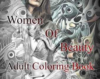 Women Of Beauty - Adult Coloring Book
