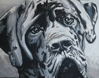 Pet Portrait, Dog Art