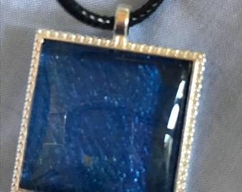 Acrylic painting pendant
