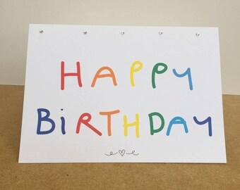 Pride Happy Birthday Card