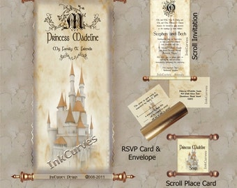 Princess Madeline Invitation and Reception Set.