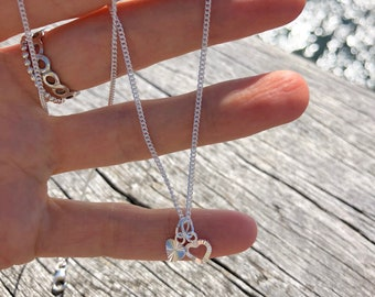 Silver Chain with Hearts