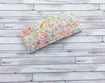 Citrus Kiss Glitter Snap Hair Clips /  Glitter Mini Snap Hair Clips / Snap Clips / Summer Snap Clip