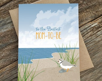 baby shower card / expecting card / mom-to-be bird