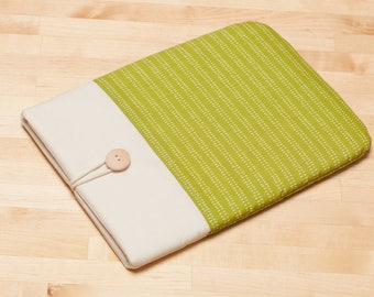 Kindle sleeve /  kindle case / Kindle paperwhite sleeve / kobo Aura sleeve - green lines