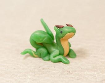 Jade Dragon, Mini Polymer Clay Dragon, Dragon Figurine, Dragon Sculpture, Dragon Figure, Eastern Dragon, Cute Dragon Figurine, Little Dragon