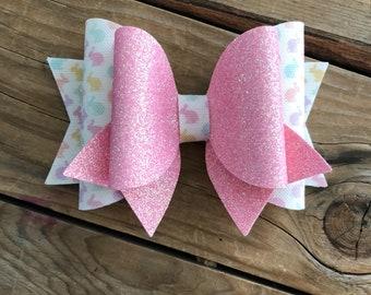 Easter Bunny Hair Bow Pink Felt Girls Hair Bows Nylon Baby Headbands Baby Girl Hair Bows Baby Girl Headbands Newborn Headbands Easter Bows