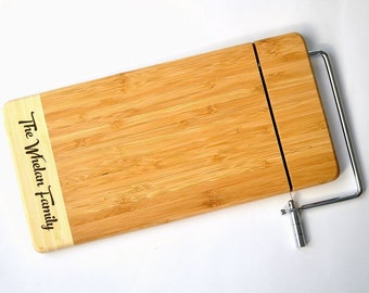 Bamboo Cheese Slicer Personalized for You