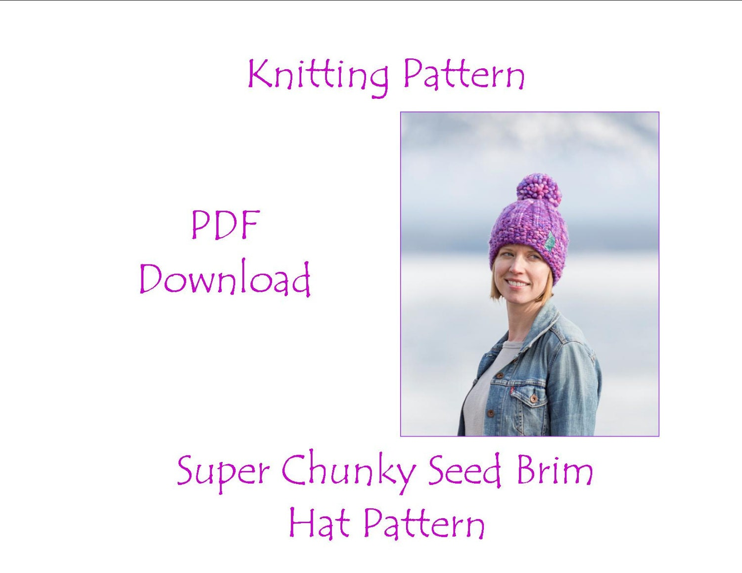 Hat Knitting Pattern - Super Chunky Hat Pattern - Malabrigo Rasta ...