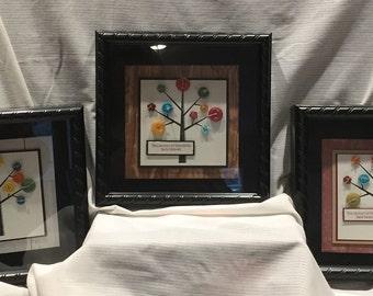 Season of Friendship Button shadow box frame