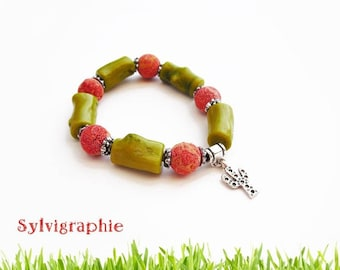 Bracelet coral beads
