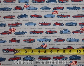 Old Guys Rule Vintage Cars Charcoal Gray BY YARDS Robert Kaufman Cotton Fabric